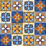 Modello italiano della piastrella di ceramica Ornamento piega etnico illustrazione di stock