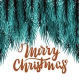 Modello lanuginoso dell'albero di Natale illustrazione vettoriale