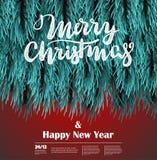 Modello lanuginoso dell'albero di Natale royalty illustrazione gratis