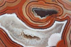 Modello legato dell'agata con il geode del quarzo fotografia stock libera da diritti