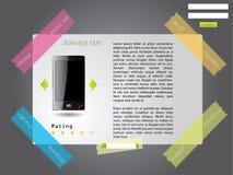 Modello legato di Web site Fotografia Stock Libera da Diritti