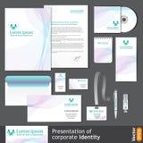 Modello leggero di identità corporativa per la società medica Fotografie Stock