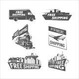 Modello libero di progettazione di trasporto Trasporto e trasporto di carico dell'internazionale royalty illustrazione gratis