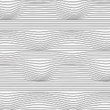 Modello lineare di vettore, ripetente linea retta incerta astratta, torsione lineare e curvatura Progettazione pulita di vettore  royalty illustrazione gratis