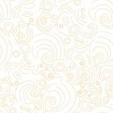 Modello lineare dorato senza cuciture di forme di vettore illustrazione di stock