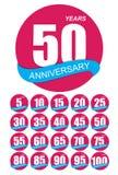 Modello Logo Anniversary Set Vector Illustration royalty illustrazione gratis