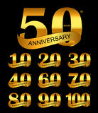 Modello Logo Set Anniversary Vector Illustration Immagini Stock