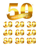 Modello Logo Set Anniversary Vector Illustration royalty illustrazione gratis
