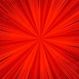 Modello luminoso di rosso della pagina del libro di fumetti Immagini Stock Libere da Diritti