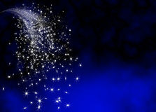Modello luminoso e brillante astratto della coda della stella cadente Fotografie Stock Libere da Diritti