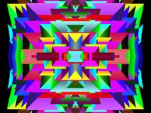 Modello luminoso e moderno geometrico di stile illustrazione di stock