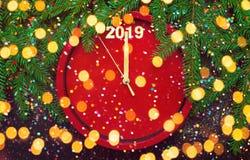 Modello luminoso per il buon anno della cartolina d'auguri fotografia stock libera da diritti