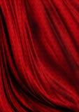 Modello luminoso rivestito del fondo rosso ondulato del raso Fotografie Stock Libere da Diritti