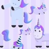 Modello magico dell'unicorno, stile del fumetto illustrazione vettoriale