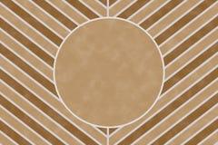 Modello marrone della banda del gallone della natura con la cornice di testo del cerchio Fotografia Stock Libera da Diritti
