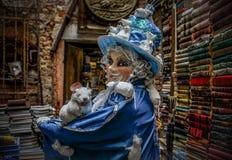 Modello mascherato veneziano Immagine Stock