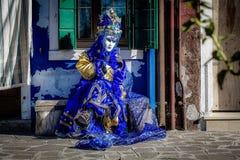 Modello mascherato veneziano Fotografia Stock
