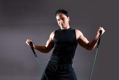 Modello maschio di forma fisica Fotografia Stock