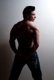 Modello maschio di forma fisica Fotografie Stock
