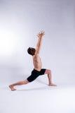 Modello maschio di yoga Fotografia Stock Libera da Diritti