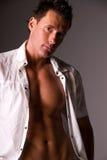 Modello maschio sexy. Fotografia Stock