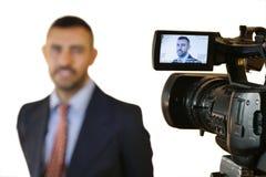 Modello maschio in uno studio fotografico Immagine Stock Libera da Diritti