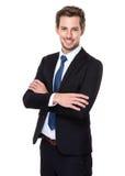 Modello maschio in vestito di affari Fotografia Stock