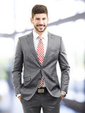 Modello maschio in vestito di affari Immagini Stock