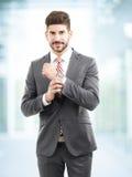 Modello maschio in vestito di affari Immagine Stock