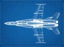 Modello militare dell'architetto dell'aereo di combattimento royalty illustrazione gratis
