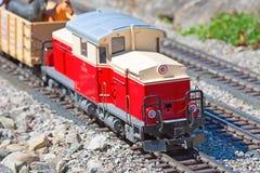 Modello miniatura del treno Immagini Stock