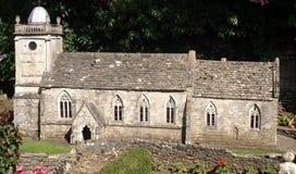 Modello miniatura di una chiesa o di una cattedrale Fotografie Stock Libere da Diritti
