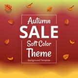 Modello minimalista di vendita di tema di autunno di vettore con il confine royalty illustrazione gratis