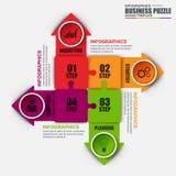 Modello minimo di progettazione di vettore del puzzle di Infographic royalty illustrazione gratis