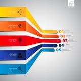 Modello minimo di vettore di infographics per l'interfaccia o il infograph Fotografia Stock Libera da Diritti