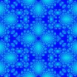Modello mistico orientale blu di progettazione di simmetria illustrazione di stock