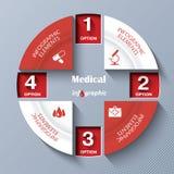 Modello moderno astratto per il progetto o la presentazione medico Fotografia Stock