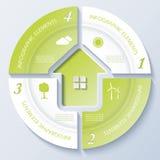 Modello moderno astratto per impresa immobiliare Immagine Stock