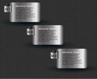Modello moderno del fondo del metallo Fotografia Stock