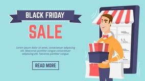 Modello moderno del manifesto di vendita di Black Friday Fotografia Stock Libera da Diritti