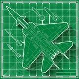 Modello moderno dell'aereo da caccia Fotografia Stock Libera da Diritti
