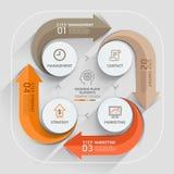 Modello moderno dell'elemento dei business plan della freccia Immagine Stock