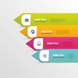 Modello moderno dell'elemento di infographics Vettore illustrazione di stock