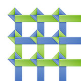 Modello moderno della striscia di carta di opzioni. Fotografie Stock