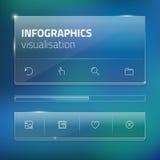 Modello moderno dello schermo dell'interfaccia utente per il cellulare Fotografia Stock Libera da Diritti