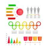 Modello moderno di affari per la presentazione, il web design, le insegne ed i manifesti illustrazione di stock