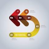 Modello moderno di Infographic di affari - forme astratte della freccia Immagini Stock Libere da Diritti