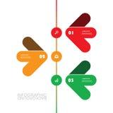 Modello moderno di Infographic di affari - progettazione minima di cronologia Immagini Stock