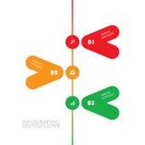 Modello moderno di Infographic di affari - progettazione minima di cronologia Fotografia Stock Libera da Diritti