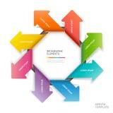Modello moderno di infographics della freccia. Fotografie Stock Libere da Diritti